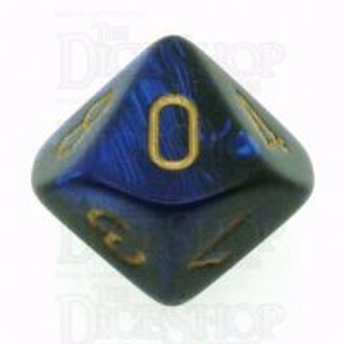 Chessex Gemini Black & Blue D10 Dice