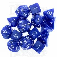 Role 4 Initiative Marble Blue & White 15 Dice Polyset