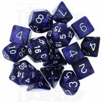 Role 4 Initiative Marble Purple & White 15 Dice Polyset