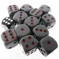 Role 4 Initiative Opaque Grey & Red 12 x D6 18mm Dice Set