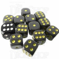Role 4 Initiative Opaque Grey & Gold 12 x D6 14mm Dice Set