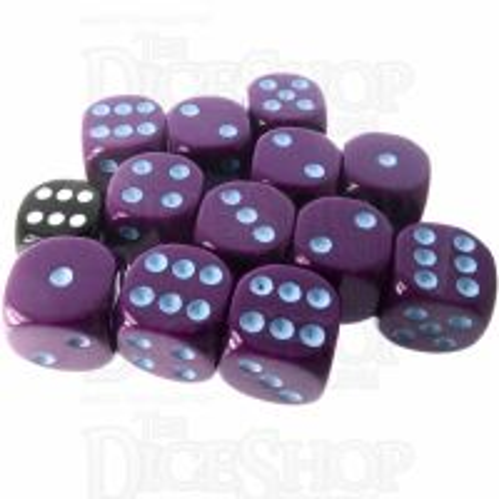 Role 4 Initiative Opaque Purple & Blue 12 x D6 18mm Dice Set