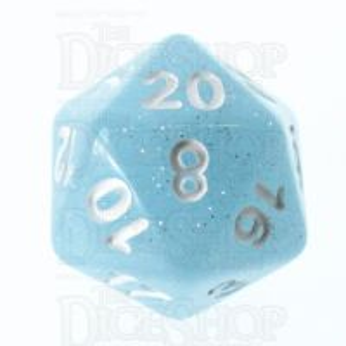 TDSO Translucent Glitter Sky D20 Dice