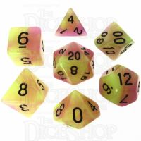 TDSO Duel Purple & Green Glow in the Dark 7 Dice Polyset LTD EDITION