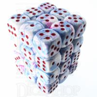 Würfelzeit Cosmoo Frakti Light Blue & Red 36 x D6 Dice Set