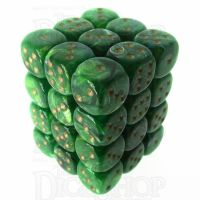 Würfelzeit Cosmoo Tornado Green & Gold 36 x D6 Dice Set