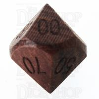 TDSO Rosewood Wooden Percentile Dice
