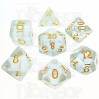 TDSO Iridescent Glitter Blue 7 Dice Polyset