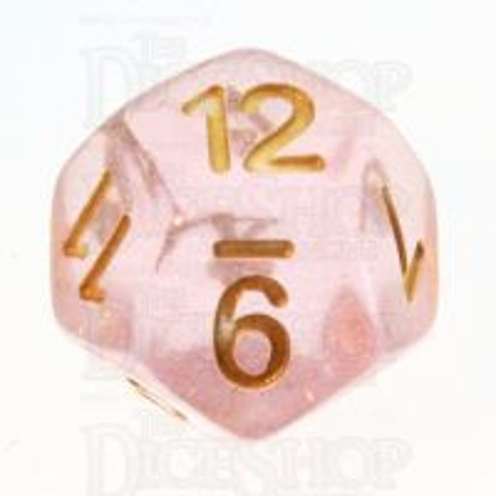 TDSO Iridescent Glitter Pink D12 Dice