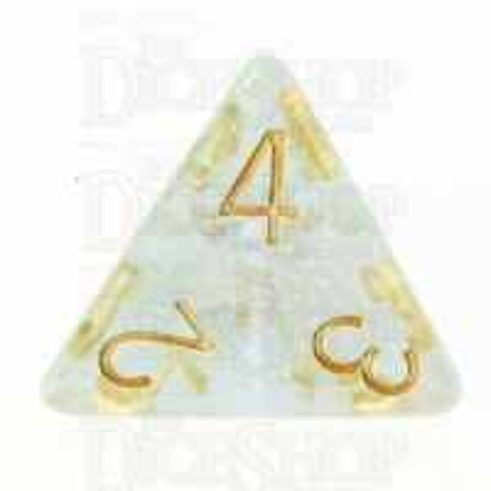 TDSO Iridescent Glitter Blue D4 Dice