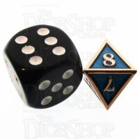 TDSO Metal Fire Forge Copper & Sapphire MINI 12mm D8 Dice