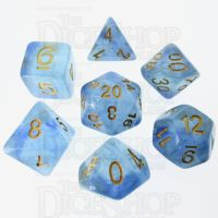 TDSO Glitter Transparent Blue 7 Dice Polyset