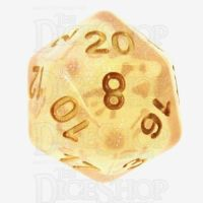 TDSO Iridescent Glitter Orange D20 Dice