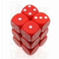 D&G Opaque Red 12 x D6 Dice Set
