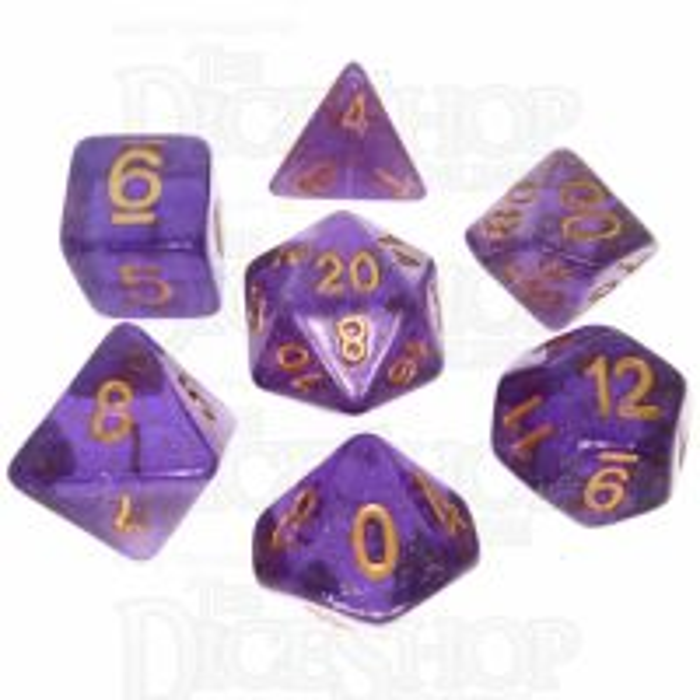 TDSO Iridescent Glitter Purple 7 Dice Polyset