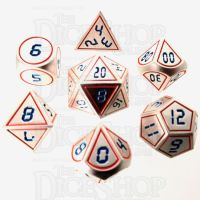 TDSO Metal Tech Steel Red & Blue 7 Dice Polyset