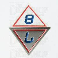TDSO Metal Tech Steel Red & Blue D8 Dice