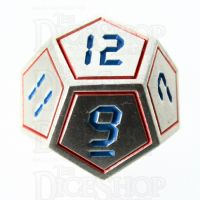 TDSO Metal Tech Steel Red & Blue D12 Dice