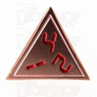 TDSO Metal Tech Copper White & Red D4 Dice