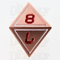 TDSO Metal Tech Copper White & Red D8 Dice