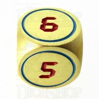 TDSO Metal Tech Gold Blue & Red D6 Dice