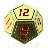 TDSO Metal Tech Gold Blue & Red D12 Dice