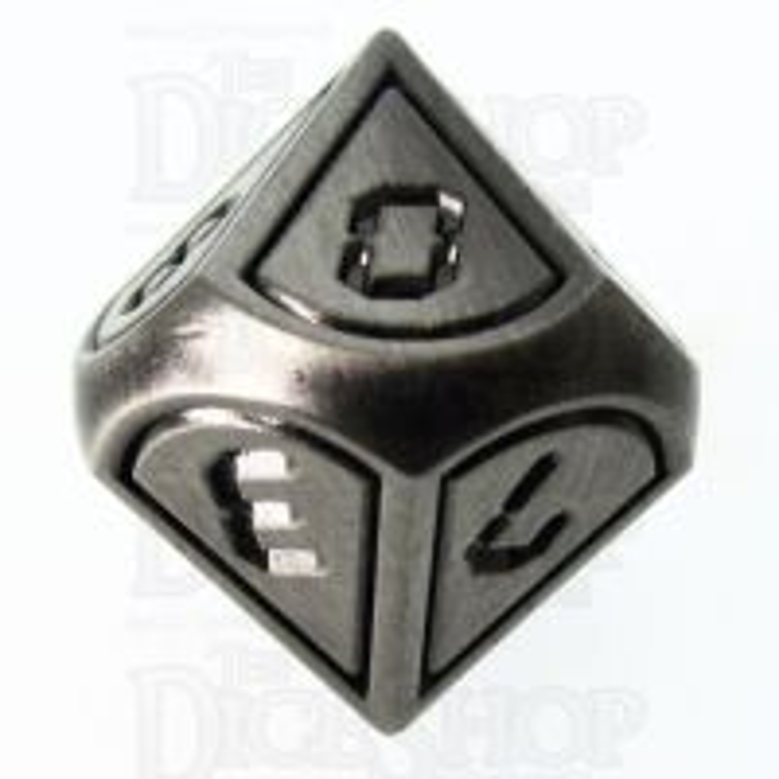 TDSO Metal Tech Steel & Black D10 Dice
