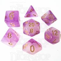 TDSO Storm Cloud Amethyst 7 Dice Polyset LTD EDITION