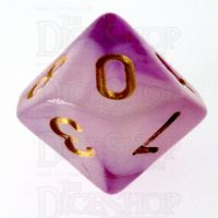 TDSO Storm Cloud Amethyst D10 Dice LTD EDITION