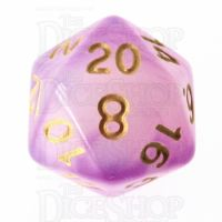 TDSO Storm Cloud Amethyst D20 Dice LTD EDITION