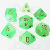 TDSO Storm Cloud Emerald 7 Dice Polyset LTD EDITION