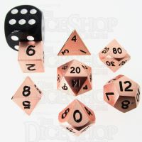 TDSO Metal Polished Copper MINI 10mm 7 Dice Polyset
