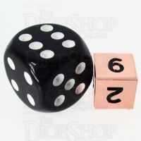 TDSO Metal Polished Copper MINI 10mm D6 Dice