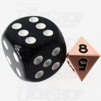 TDSO Metal Polished Copper MINI 10mm D8 Dice