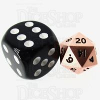 TDSO Metal Polished Copper MINI 10mm D20 Dice
