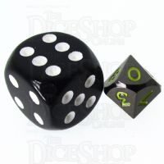 TDSO Metal Black Nickel & Yellow MINI 10mm D10 Dice