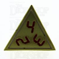 TDSO Metal Tech Gold White & Red D4  Dice