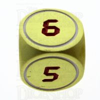 TDSO Metal Tech Gold White & Red D6  Dice