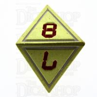 TDSO Metal Tech Gold White & Red D8  Dice