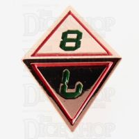 TDSO Metal Tech Copper Red & Green D8 Dice