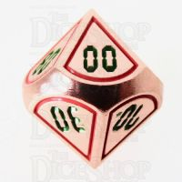 TDSO Metal Tech Copper Red & Green Percentile Dice
