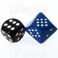 Chessex Opaque Blue & White 20mm D10 Spot Dice