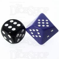 Chessex Opaque Purple & White 20mm D10 Spot Dice