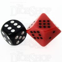 Chessex Opaque Orange & Black 20mm D10 Spot Dice