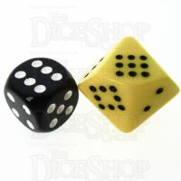 Chessex Opaque Yellow & Black 20mm D10 Spot Dice