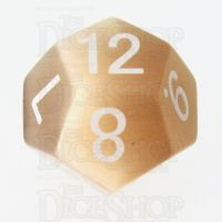 TDSO Cats Eye Champagne 16mm Precious Gem D12 Dice