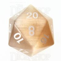 TDSO Cats Eye Champagne 16mm Precious Gem D20 Dice