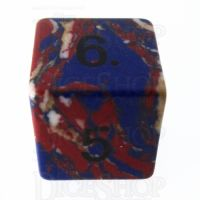 TDSO Turquoise Multi Fire Synthetic 16mm Stone D6 Dice