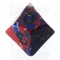 TDSO Turquoise Multi Fire Synthetic 16mm Stone D10 Dice