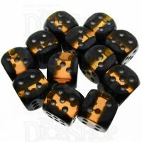 TDSO Mineral Amber 12 x D6 Dice Set